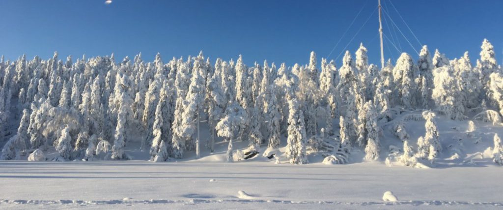 Vuokatti sneeuw Finland